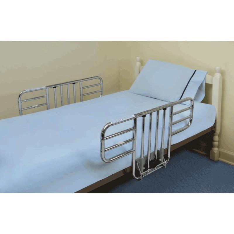 mabis dmi half length steel bed rails side rail protection. Black Bedroom Furniture Sets. Home Design Ideas