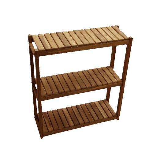 Teakworks4u Three Tiered Shelf | Bath Aids
