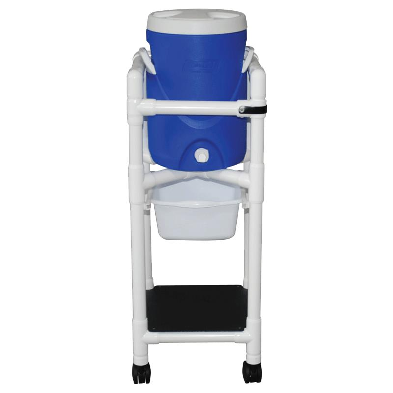 MJM International Refreshment Cooler Cart With Slide Out Storage Tray