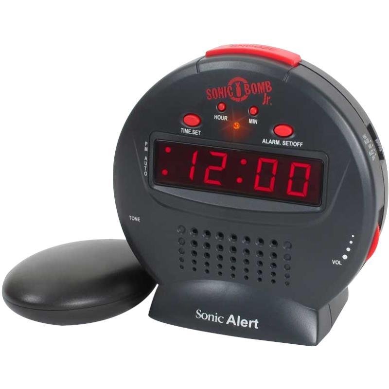 Sonic Bomb Jr Alarm Clock With Bed Shaker Alarm Clocks