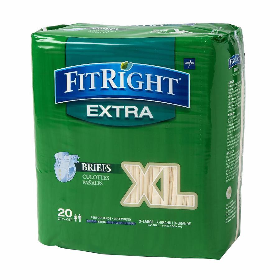 Buy Medline Fitright Extra Clothlike Adult Briefs Tab