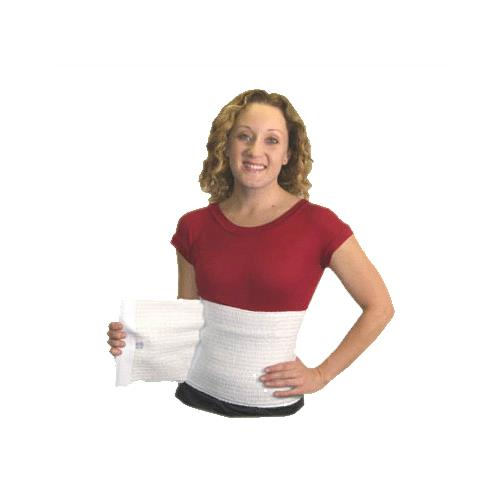 Expand-A-Band 12 Inches Wide White Abdominal Binder