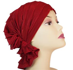 Chemo Beanies Nancy Red Ruffle