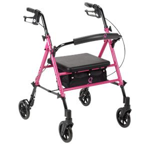 Drive ACS Aluminum Breast Care Awareness Four Wheel Rollator