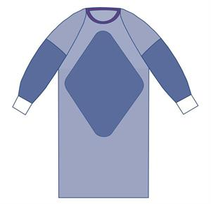 d3d1ad4217e Medline Sterile Fabric-Reinforced Sirus Surgical Gowns with Raglan Sleeve