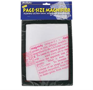Complete Medical Magnifier Full Page Reading Fresnel with Border