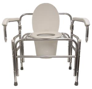 ConvaQuip Bariatric Bedside Swing Away Arm Commode