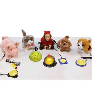 Cuddly Cousins Stimulus Plush Toy Set And Switches Kit