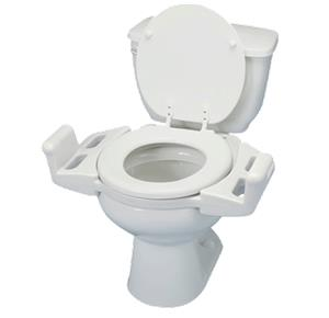 Maddak Elevated Push-Up Toilet Seat With Arms