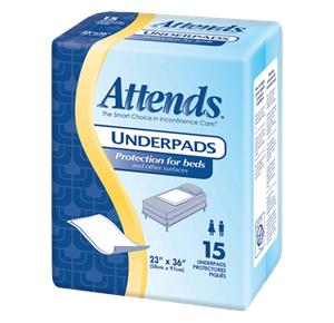 Attends Retail Disposable Underpads - Light Absorbency