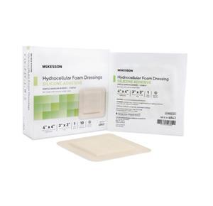 McKesson Silicone Foam Dressing Square Silicone Adhesive With Border Sterile