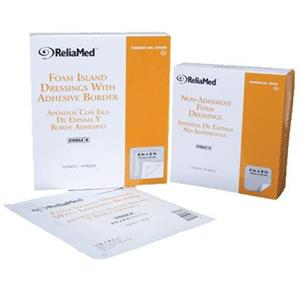 ReliaMed Adhesive Border Foam Dressing with Film Backing