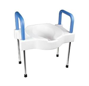 Maddak Extra Wide Tall-Ette Elevated Toilet Seat with Arms And Legs
