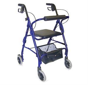 Mabis DMI Ultra Lightweight Aluminum Rollator with Adjustable Seat Height