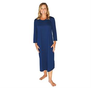 31402e1ca8 Cool-Jams Long Scoop Neck Nightgown With 3 4 Sleeves