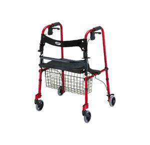 Nova Medical Cruiser De-Light Four-Wheel Folding Walker With Basket