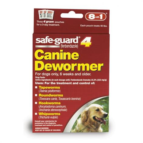 Buy 8 in 1 Pet Products Safe-Guard 4 Canine Dewormer