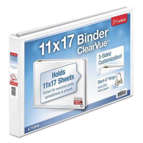 Buy Cardinal 11 x 17 ClearVue Slant-D Ring Binder