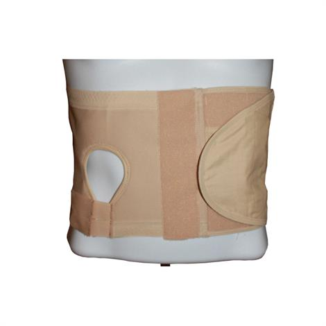 Safe N Simple Security Hernia/Ostomy Support Belt 8 Inch With Pouch Opening
