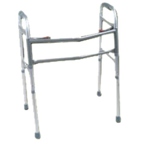 Rose Healthcare Oversized Two Button Aluminum Folding Walker