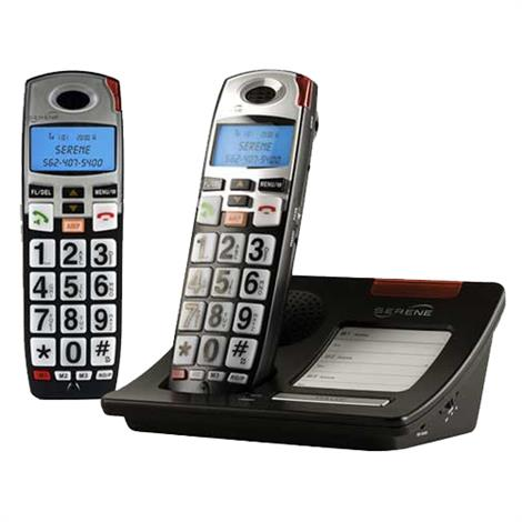 Serene Innovations CL60 DECT 6.0 Amplified Cordless Phone With Expansion Handset