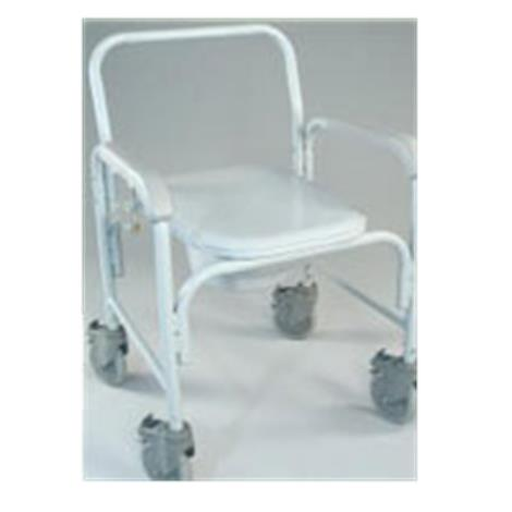 Tubular Fabricators Deluxe Commode With Solid Stem Casters