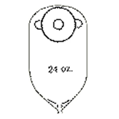 Nu-Hope Deep Convex Round Post-Operative Adult Urinary Pouch with Flutter Valve