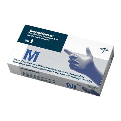 Medline SensiCare Powder-Free Extended Cuff Nitrile Exam Gloves