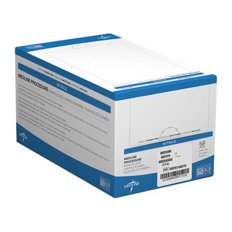 Medline Powder-Free Sterile Nitrile Exam Gloves
