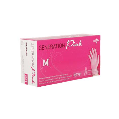 Medline Generation Pink 3g Synthetic Vinyl Exam Gloves