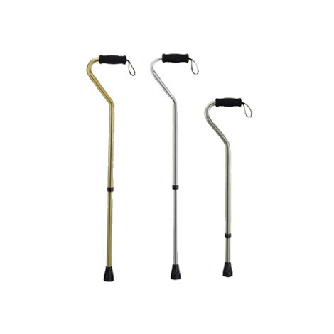 ITA-MED Offset Aluminum Cane With Wrist Strap