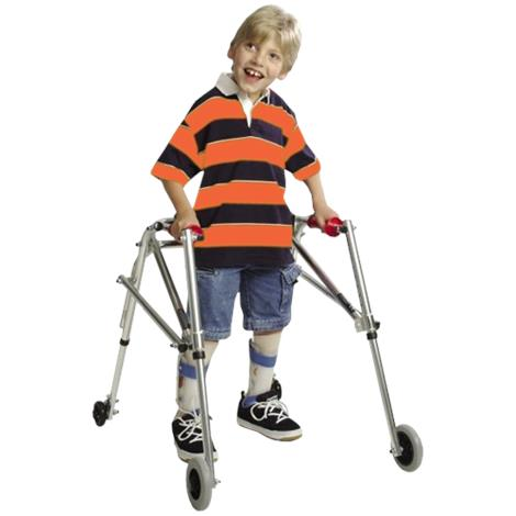 Kaye Wide Posture Control Four Wheel Walker With Installed Silent Rear Wheel For Adolescent