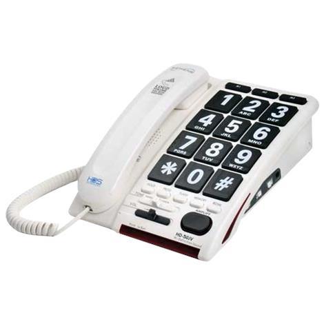 Serene Innovations Talk-Back Jumbo Key Corded Amplified Telephone