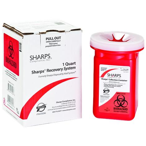 Sharps 1 Quart Sharps Disposable By Mail System