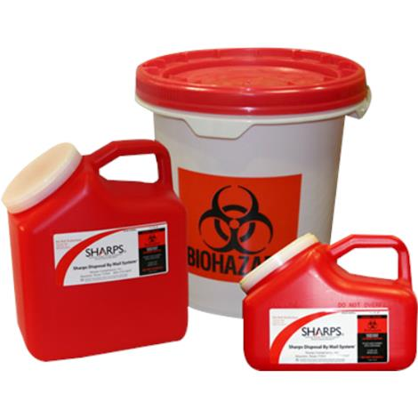 Sharps 2.5 Gallon Sharps Disposable Bucket