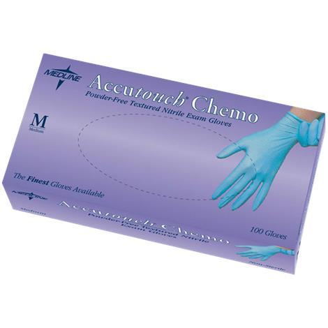 Medline Accutouch Chemo Powder-Free Nitrile Exam Gloves