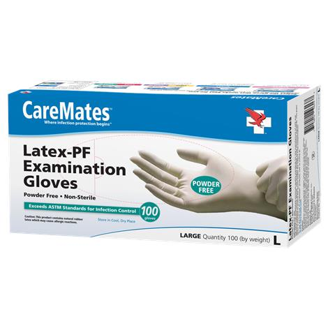 Shepard CareMates Latex Powder Free Examination Gloves