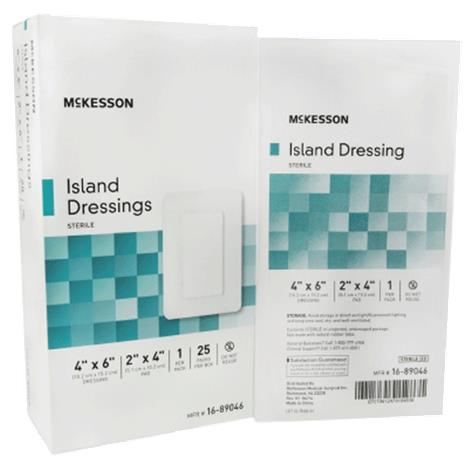 McKesson Adhesive Sterile Rectangle Island Dressing