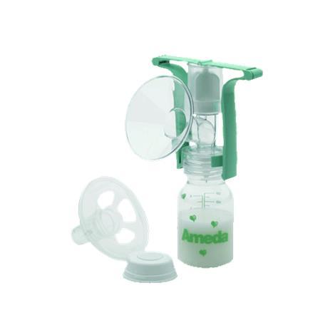 Ameda One-Hand Manual Breast Pump With Flexishield