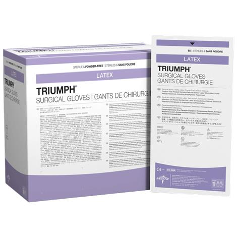 Medline Triumph Latex Powder-Free Surgical Gloves