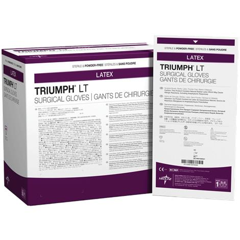 Medline Triumph LT Latex Powder-Free Surgical Gloves