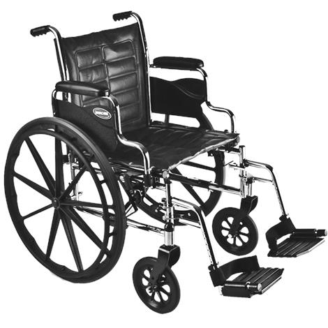 """Buy Invacare Tracer EX2 20"""" x 16"""" Removable Full Length Arm Wheelchair"""