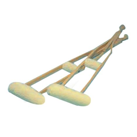 Hermell Imitation Sheepskin Crutch Cover and Hand Grips Set
