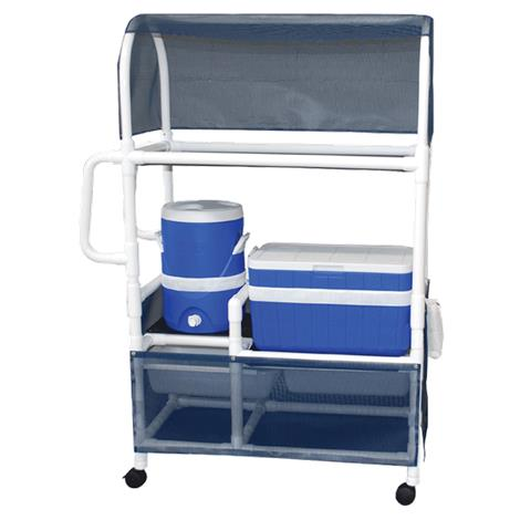 MJM International Hydration Ice Cart with Ergonomic Handles