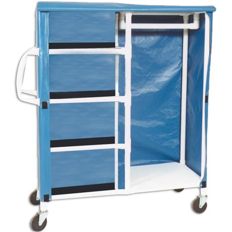 MJM International Combo Cart with Shelves And Hanging Rack