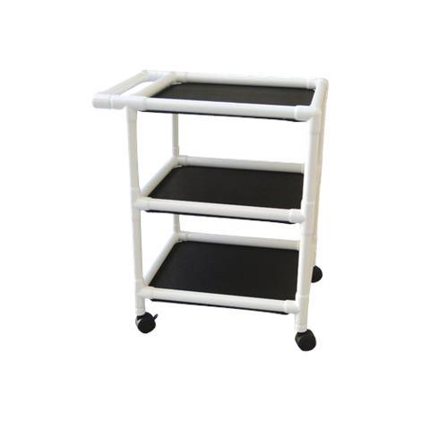 MJM International Non Magnetic Three Shelf Utility Cart