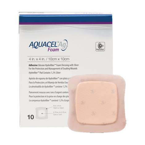 ConvaTec Aquacel Ag Adhesive Foam Dressing