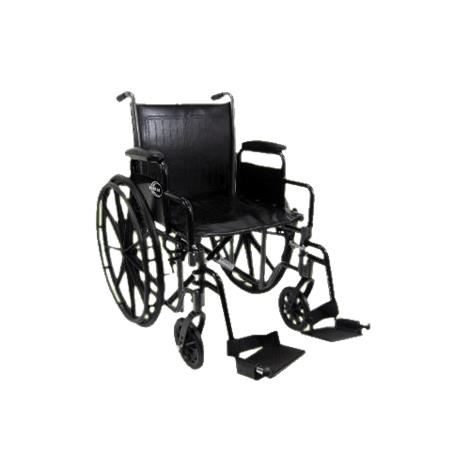 Karman Healthcare Standard Weight Deluxe Wheelchair With Detachable Armrest
