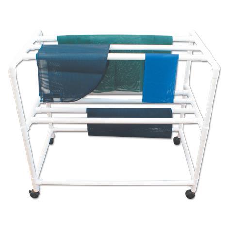 MJM International Mobile Drying Rack with Seven Drying Racks