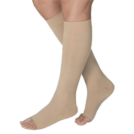 BSN Jobst Small Open Toe Knee High 20-30mmHg Firm Compression Stockings in Petite